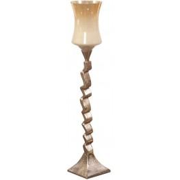 Caramelized Champagne Antique Glass Medium Candle Holder