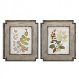 Natures Collage Floral Art Set of 2