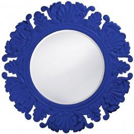 Anita Royal Blue Round Mirror