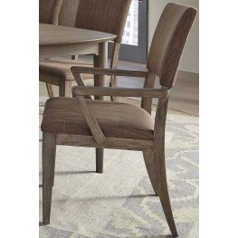 Miramar Brown Upholstered Arm Chair Set of 2