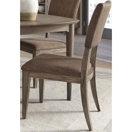 Miramar Brown Upholstered Side Chair Set of 2