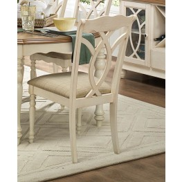 Azalea Antique White Natural Side Chair Set of 2