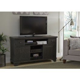 Aspen Skies Brushed Black Entertainment TV Console