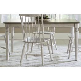 Oak Hill Tan Smoke & Antique White Extendable Rectangular Leg Dining Table