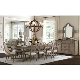 Wethersfield Estate Brimfield Oak Rectangular Extendable Dining Room Set