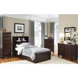 Carolina Craftsman Espresso Youth Bookcase Bedroom Set