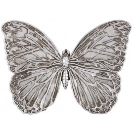 Antique Silver Butterfly Wall Art
