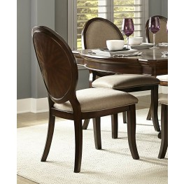 Delavan Rich Brown Cherry Side Chair Set of 2