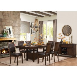 Wickham Browns Extendable Dining Room Set