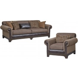 Collection One Roll Arm Living Room Set