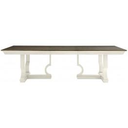 Coastal Living Oasis Saltbox White Moonrise Extendable Pedestal Dining Table