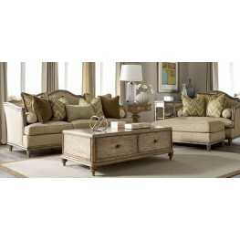 Pavilion Rustic Pine Storage Occasional Table Set
