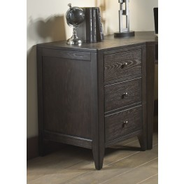 Autumn Oaks II Black 2 Drawer End