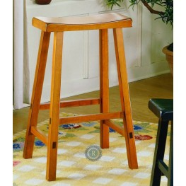 "Saddleback Oak 29"" Oak Stool"