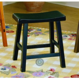 "Saddleback Black 18"" Black Stool"