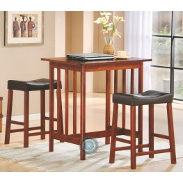 Scottsdale Cherry 3-Piece Pack Counter Height Set