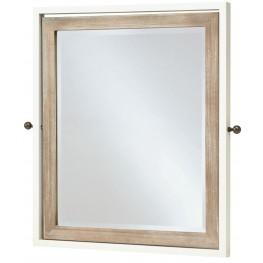 MyRoom Parchment and Gray Tilt Mirror