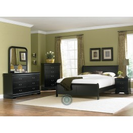 Marianne Black Sleigh Bedroom Set