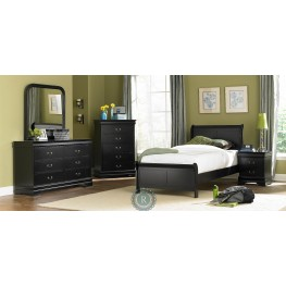 Marianne Black Youth Sleigh Bedroom Set