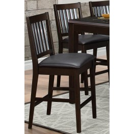 Pasco Dark Brown Counter Height Chair Set of 2