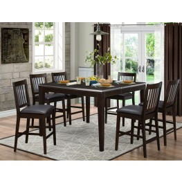 Pasco Brown Counter Height Dining Room Set