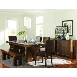 Sedley Brown Rectangular Extendable Dining Room Set