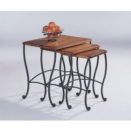 Rustic Oak Large Nesting Table 5423