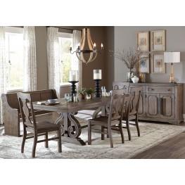 Toulon Brown Rectangular Extendable Dining Room Set