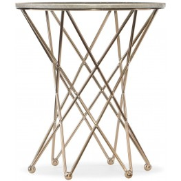 Highland Park Gold Round End Table