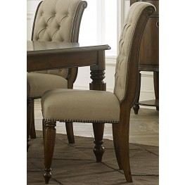 Cotswold Cinnamon Upholstered Side Chair Set of 2
