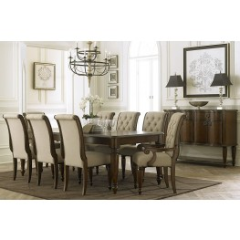 Cotswold Cinnamon Rectangular Leg Extendable Dining Room Set