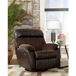 Berneen Coffee Swivel Rocker Recliner