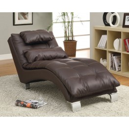 550076 Dark Brown Chaise