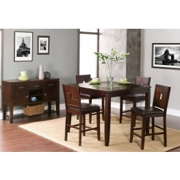 Lakeport Espresso Counter Height Dining Room Set