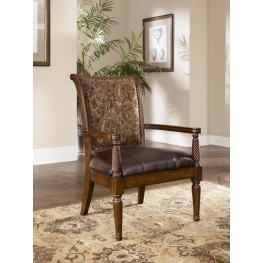 Barcelona Antique Showood Accent Chair
