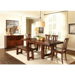 Tahoe Trestle Extendable Dining Room Set