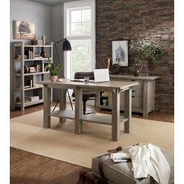 Urban Farmhouse Gray Home Office Set