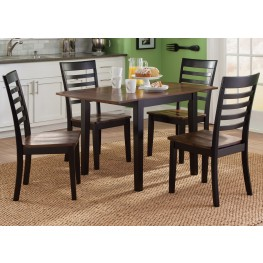Cafe Black and Cherry Drop Leaf Dining Room Set