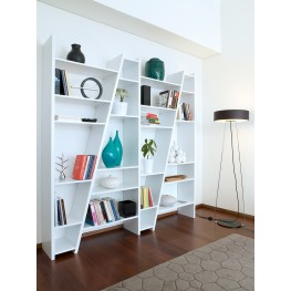 Delta White 4 Piece Bookcase