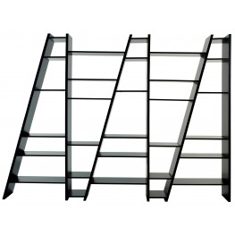 Delta Black 5 Piece Bookcase