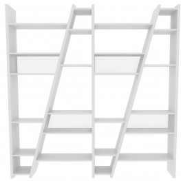 Delta White 4 Piece Bookcase with Back