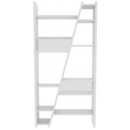 Delta White 2 Piece Bookcase with Back