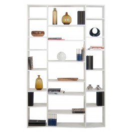 Valsa White 21 Shelf Bookcase