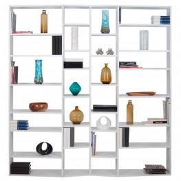 Valsa White 28 Shelf Bookcase