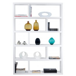 Dublin White High Bookcase