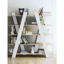 Wind Oak and White Shelving Unit