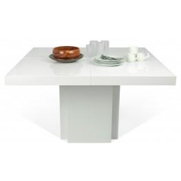 "Dusk High Gloss White 59"" Dining Table"