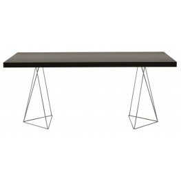 """Multi Wenge 71"""" Dining / Work Table with Trestles"""