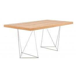 "Multi Oak 63"" Trestle Table"