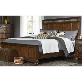 Coronado Tobacco Queen Panel Bed